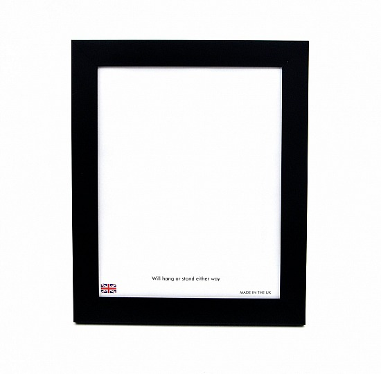 Photo frame in a smooth black finish