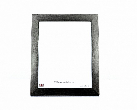 Photo frame in a brushed pewter finish